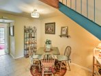 Gather around the 4-person dining room table for delicious homemade meals and family games.