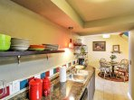 The chef of the group will delight in the fully-equipped kitchen.