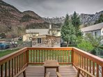 Enjoy the mountains up-close and personal from this 2-bedroom, 3-bathroom vacation rental house in Ouray!