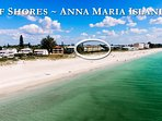 Arial view of Gulf Shores Beachfront condo on Anna Maria Island