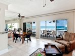 Enjoy seeing beach and Gulf of Mexico from lanai, dining room, living room and kitchen