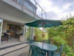 Lovely patio area with garden furniture leading from the lounge area.
