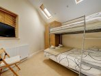 Bunk bedded room (sleeping 3), with en suite and bed linen supplied.