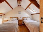 Twin bedded room.