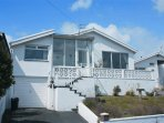 Front aspect detached bungalow with fantastic sea views.