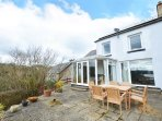Sea View is a lovely 4 bedroom house in Wisemans Bridge, rear patio area to enjoy the sunshine!