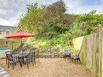 Garden area with garden furniture and BBQ