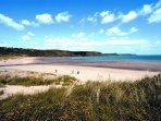 A super sandy beach at Freshwater East, great for those lazy summer afternoons.