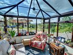 Fully furnished conservatory to the front of house