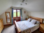 The main double bedroom was lovely light oak furniture, and a view over open countryside