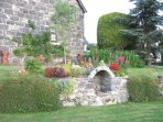 Several features enhance the extremely well-maintained gardens