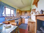The kitchen is well fitted and equipped