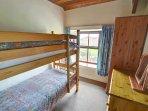 Children's bunk beds in the third bedroom