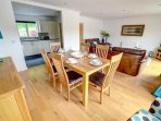 Relaxed dining in this well-furnished room that opens from the excellent kitchen
