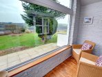 This cottage has a glass porch which enables you to see the views of the surrounding area