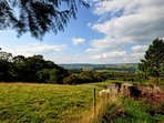 Stunning views over the Cothi Valley and surrounding countryside