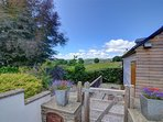 Stunning views of the surrounding countryside from the garden patio area