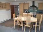 Open plan kitchen dining area, fullly equipped with dishwasher, washing machine, tumble dryer