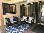 The Resort also features a shaded lounge area to beat the heat and includes a ceiling fan.