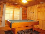 Pool Table in separate game room