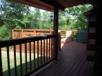 Covered porch onto the deck
