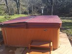 5-person hot tub with easy-up cover.  Cleaned and serviced between each guest.