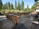 Front deck ramp, Unit 13 Lot 142 Pine Mountain Lake vacation rental Star Of The Mountain.