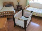A playpen/baby bed is available upon request.