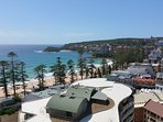Stunning views from your private balcony over Manly beach