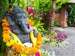 Blessings from Ganesha as you arrive at Joglo Lata Lama Boutique Villas