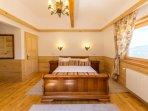 Ensuite bedroom on the second floor, view to Bucegi Mts.