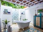 tropical open air shower