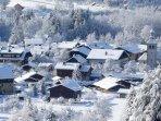 Servoz village
