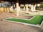 Crazy golf under the Riverside club house - all weather entertainment!