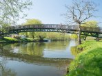 The stunning Millennium bridge in Avon Park, opposite Daisy Lodge
