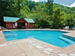 Smoky Cove Resort Swimming Pool - Relax Poolside during your stay at Kozy Lodge!