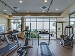 Exercise room with phenomenal views
