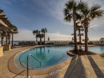 Amazing views of the gulf from the pool