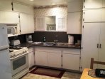 Quartz counters in the full size kitchen
