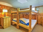 The 4th bedroom offers 2 twin-over-twin bunk beds