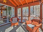 Kick back on the screened-in porch.