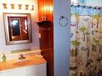 Sink,Bathroom,Indoors,Curtain,Entertainment Center