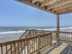 Bottom Covered Deck & Beach Access