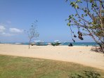 Empty beach at Tuban 15mins walk from the Villa