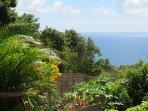 Le jardin du Domaine Racines é Zel face à la mer