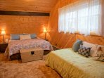 Extra large upstairs bedroom with King bed and Twin bed