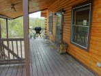 Covered front porch with Gas BBQ Grill