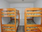 South Streetside Bedroom w/ 2 Bunk Beds
