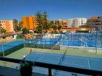 Vistas desde la terraza, que dan al club de tennis la Ancora, no pertenece a la comunidad.