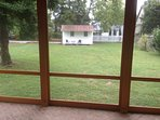 View from rear screened porch